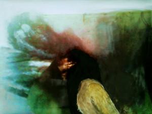 Wvznr, 29EX16, O.Titel, Öl a. experimenteller Fotografie, 50 x 66 cm, 2016