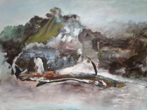 Wvznr. 0516, Alpen, Öl a. leinwand, 110 x 150 cm, 2016